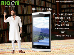 Bloom GLOBE 4.5 Lite Phone That Does not Cut The Favourite Corners Of The Image