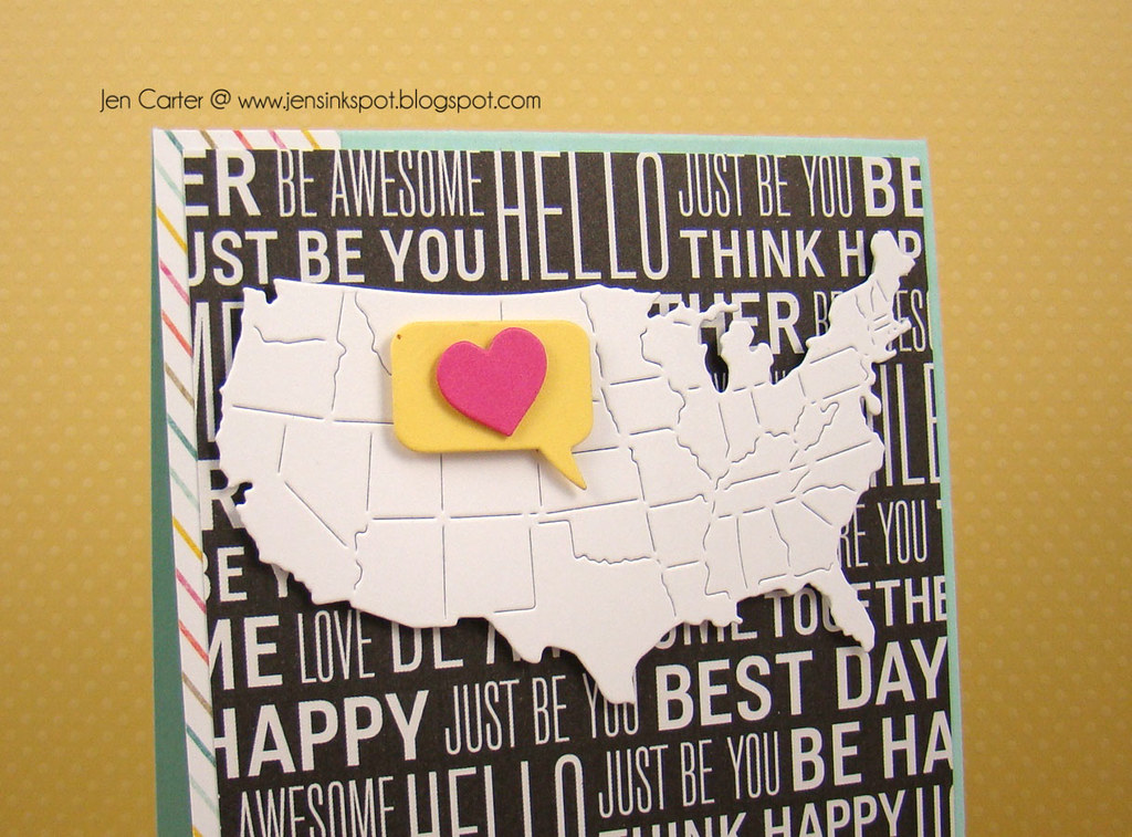 Jen Carter Frantic Stamper USA Love Closeup