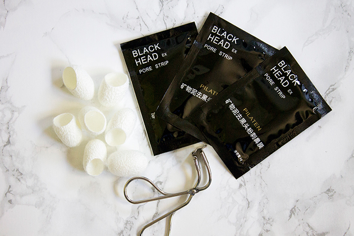 Asian Beauty Products: Shu Uemura S Curlers, Cosrx Blackhead Silk Finger Balls, Pilaten Blackhead Pore Strips