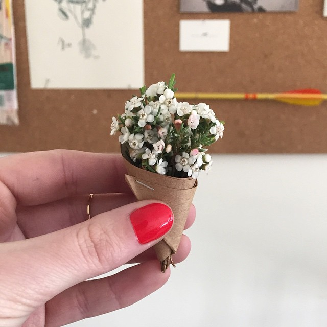 The most adorable teeny tiny itty bitty bouquet from the @ladies_of_foret.