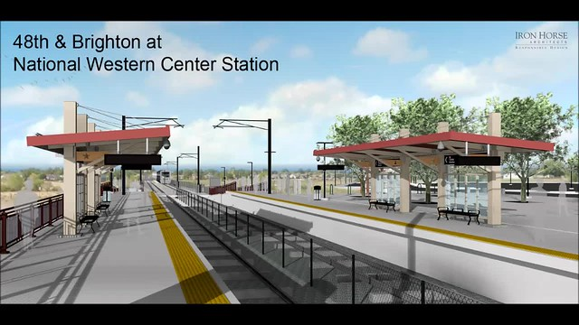 48th & Brighton - National Western Center Station Rendering