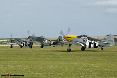 G-BTCD 122-39608 & G-SHWN 122-40417 & G-TFSI 124-44709 - North American P-51D TP-51D Mustang - Duxford, Cambridgeshire - 150523 - Steven Gray - IMG_4534