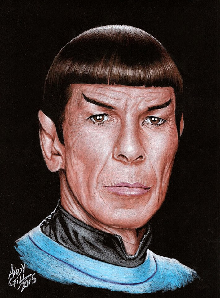 Leonard Nimoy as Star Trek's Spock by Andy Gill