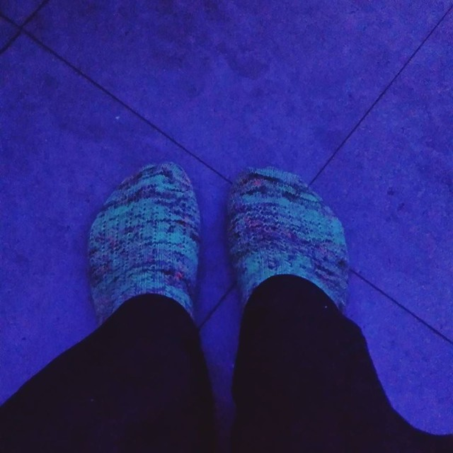 glow bowling! So fun when hand knits glow too! #knittersofinstagram #socktawk #bowlingfun