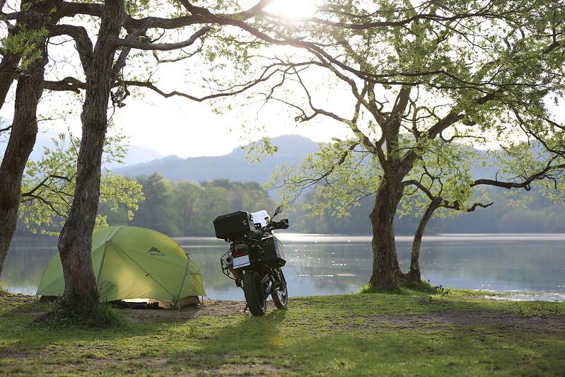 F800GS 20150511 小野川湖畔キャンプツーリング