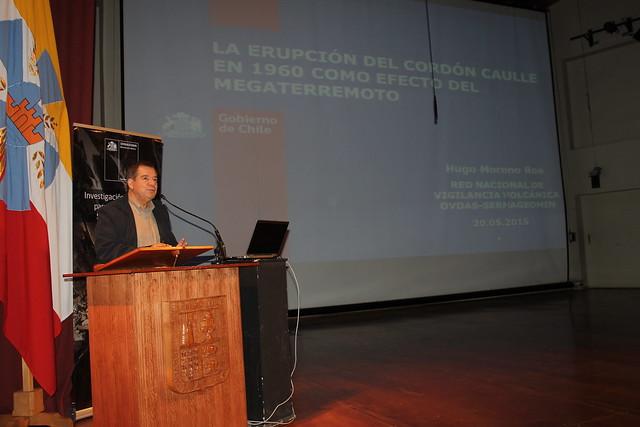 Hugo Moreno, volcanólogo de la Red Nacional de Vigilancia Volcánica del Sernageomin