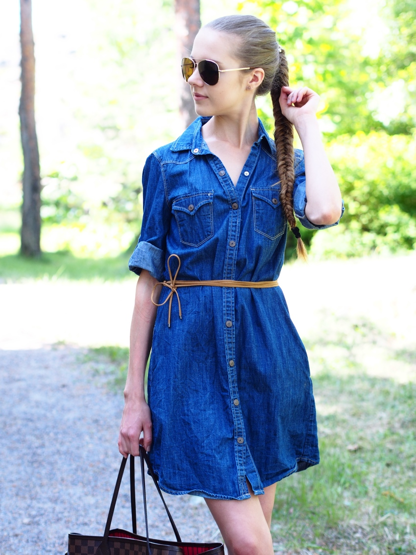 Chambray dress summer outfit