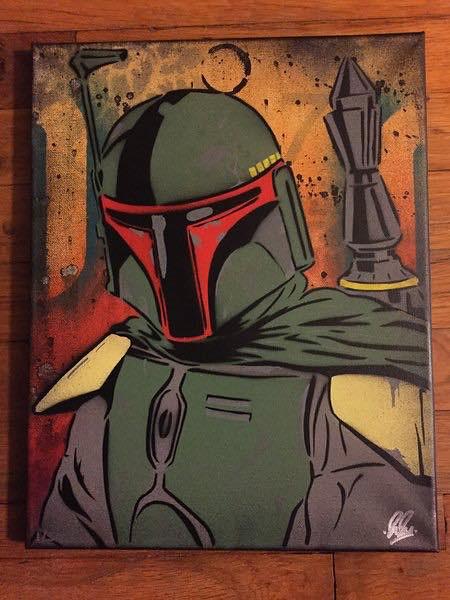 Boba Fett canvas by Chris Cleveland Studios
