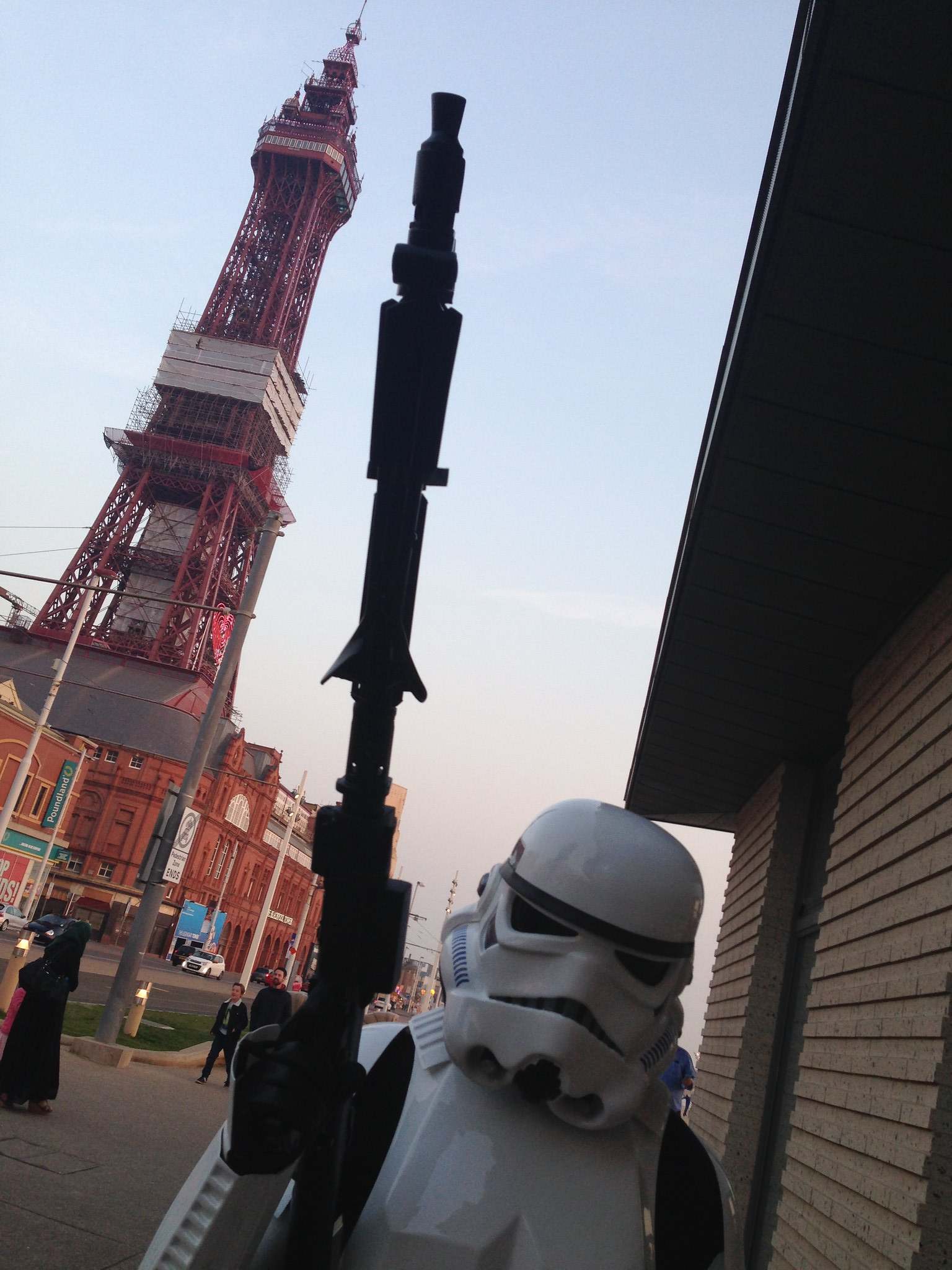 Blackpool Comic-Con Launch Party - Star Wars Stormtrooper by Blackpool Tower