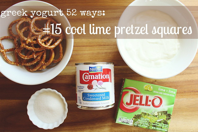 greek yogurt 52 ways: no. 15 cool lime pretzel squares