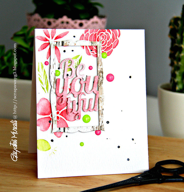 Pink and green card1