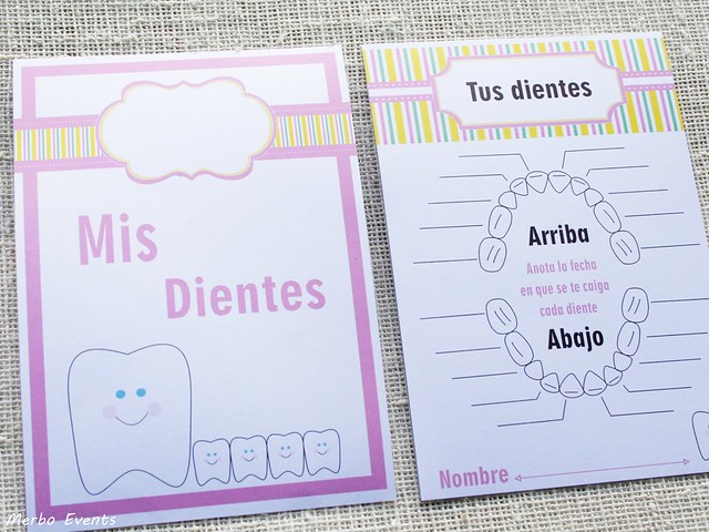 Fichas imprimibles para niña diario Ratoncito Perez Merbo Events