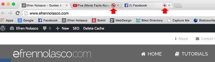 How to mute individual tab on chrome