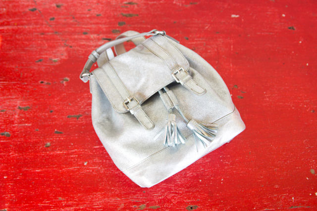 Boden silver backpack