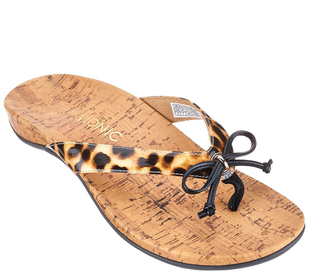 Vionic By Orthaheel Cassie Orthotic Thong Sandals Ebay