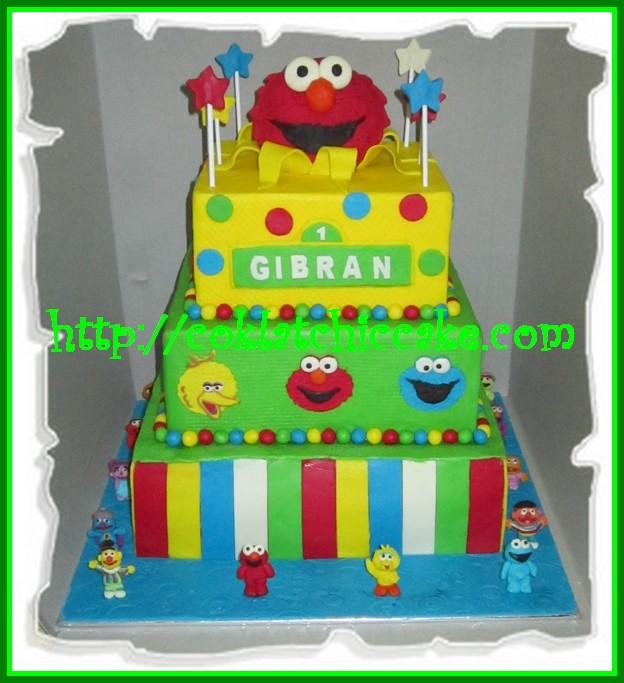 Cake Elmo Sesame Street