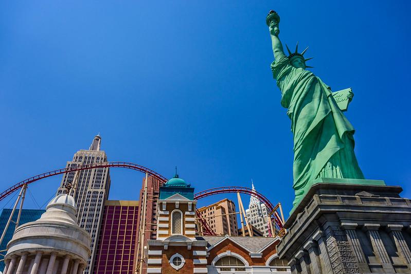 New York New York in Las Vegas. Image: Wayne S Grazio, CC.