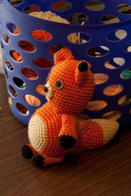 Crocheted Fox Toy