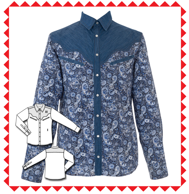 145 Men's Long Sleeve Shirt Sewing Pattern