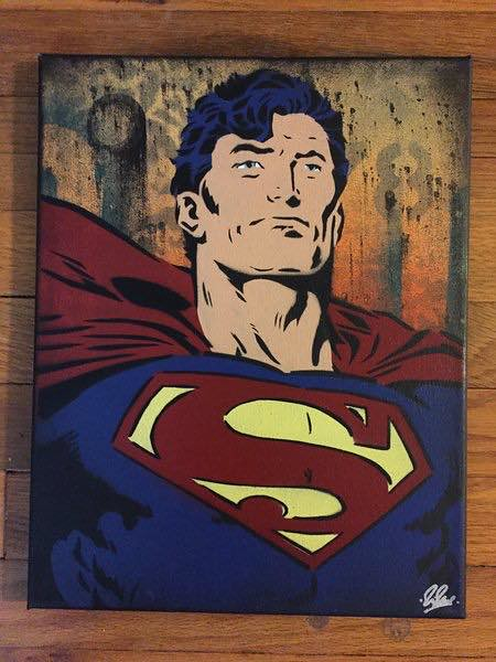 Superman canvas by Chris Cleveland Studios