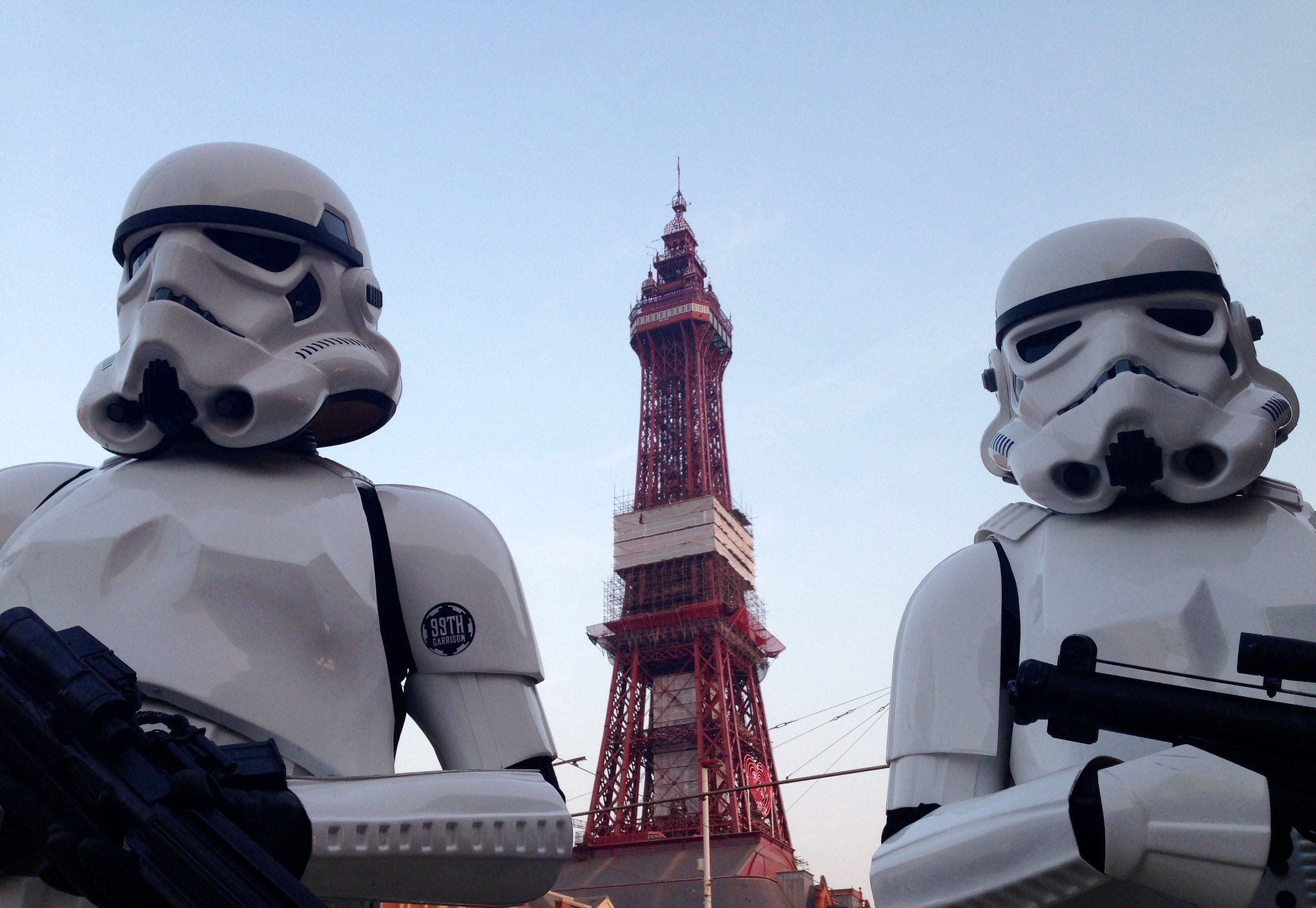 Blackpool Comic-Con Launch Party - Star Wars Stormtroopers by Blackpool Tower