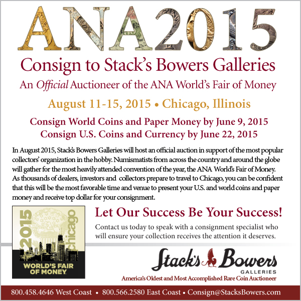 Stacks-Bowers E-Sylum ad 2015-05-17 ANA2015
