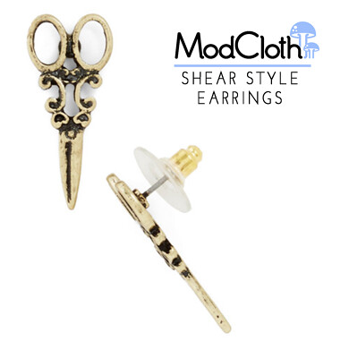 shear style earrings