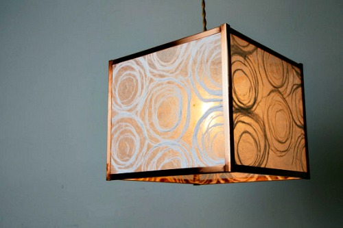 Khalima Lights - Square Swirl Paper Pendant Lamp