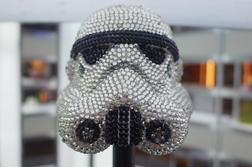"""Imperial Bling"" ""Elena Timman"" Storm trooper helmet art display STAR WARS VISIONS 04"
