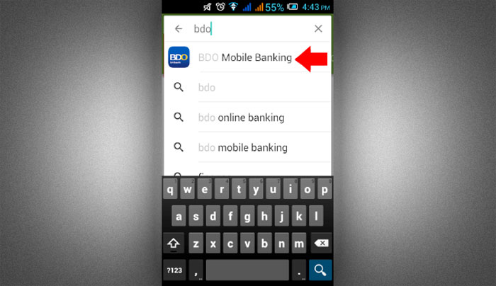 How to install BDO Mobile Banking app step 1