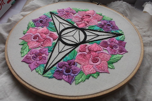 Embroidered Rose Mandala