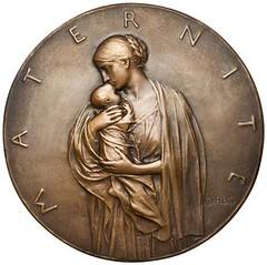 Oscar Roty 1893 Motherhood medal 1959.148.77.obv