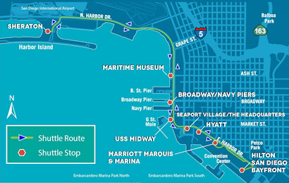 Seaport Village Map Big Bay Shuttle to Run along the Waterfront | Seaport Village Seaport Village Map