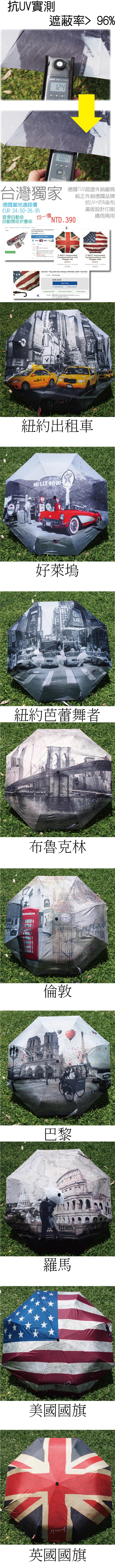 城市系列-自動開收折疊傘.直骨自動傘