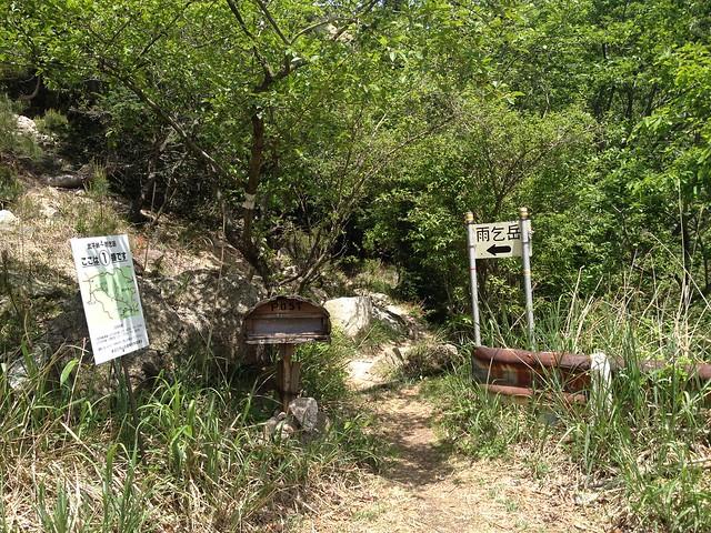 雨乞岳 武平峠ルート 武平トンネル西登山口