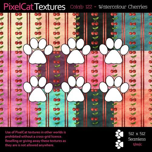 PixelCat Textures - Colab 122 - Watercolour Cherries