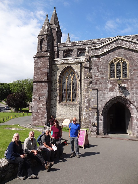 Hazel, Jim, Dave, Steffi and Charles, St David's Cathedral