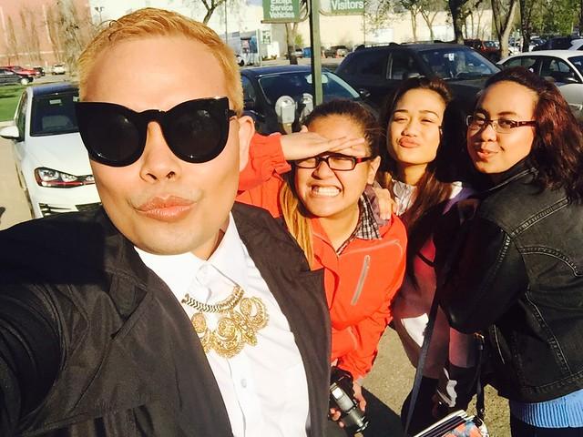 Glam Team at Saskatchewan Fashion Week for vitorivita.com