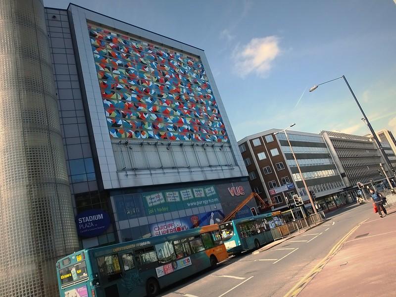 Kera street art at Millennium Plaza Cardiff