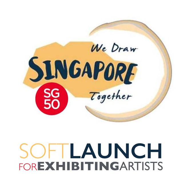 "Poster for soft launch of exhibition ""We Draw Singapore Together"""
