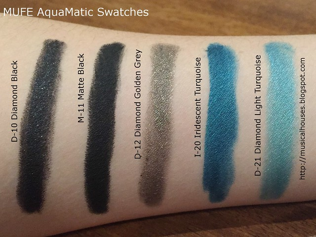 MUFE AquaMatic Swatches Summer 2015 1