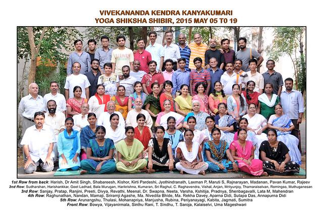 Yoga Shiksha Shibir at Kanyakumari : May 2019