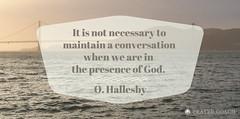 Maintain the conversation