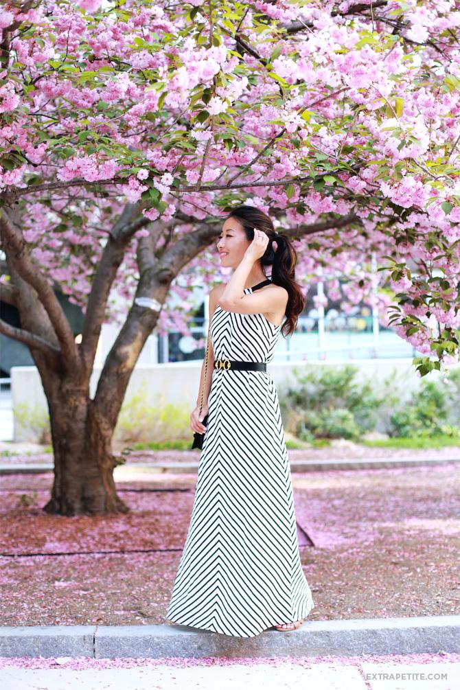ann taylor striped maxi dress petite3