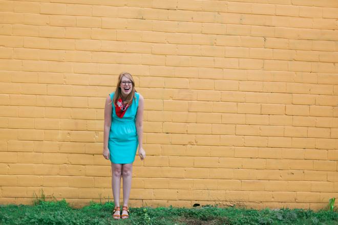 red-scarf-blue-dress1