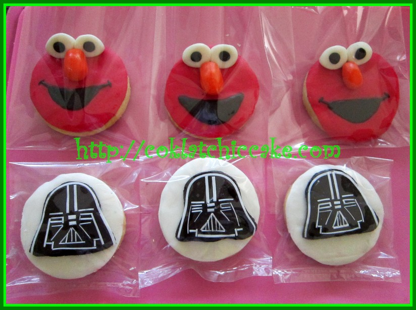 Cookies elmo dan cookies starwars