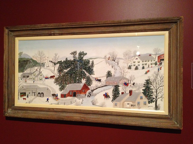 Over the River to Grandma's House on Thanksgiving by Grandma Moses