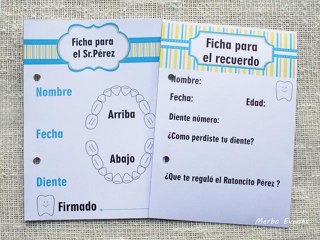 Fichas imprimibles diario Ratoncito Perez Merbo Events