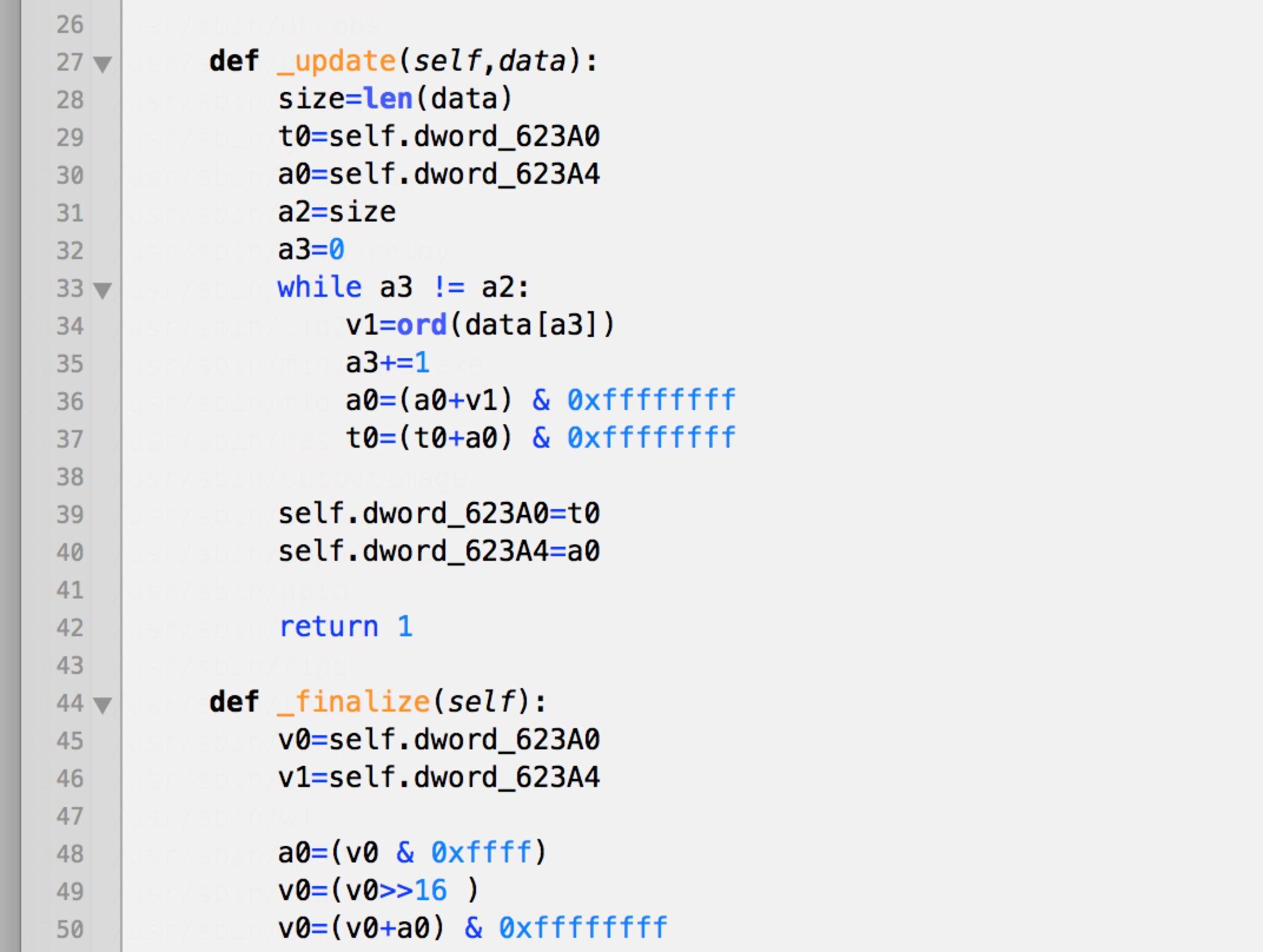 Checksum Python reimplementation