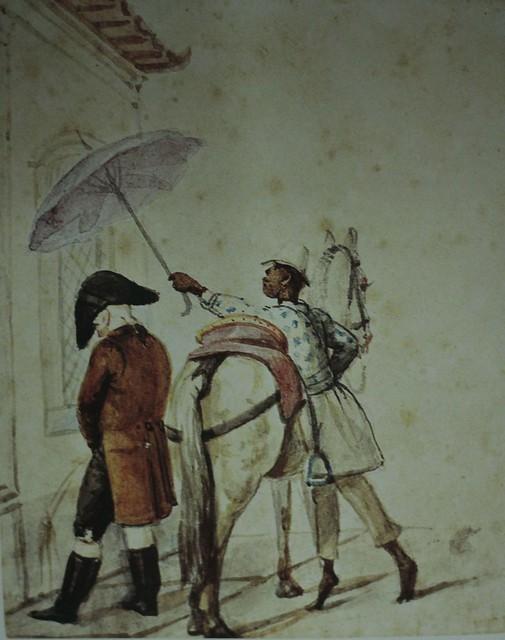 Cena de Rua (patrão e escravo), de Jean Baptiste Debret